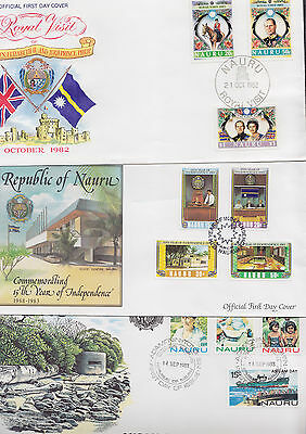 047729 Nauru FDC First Day Cover`s - Lot