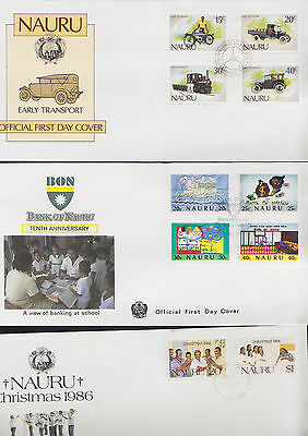047733 Nauru FDC First Day Cover`s - Lot