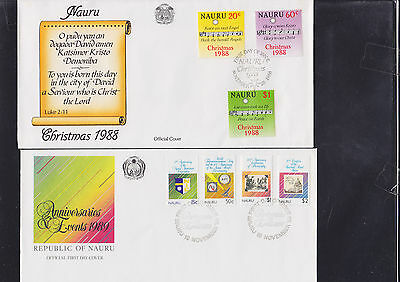 047736 Nauru FDC First Day Cover`s - Lot