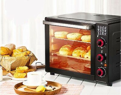 33L Home Commercial Black Multi-function Baking Tool Benchtop Electric Oven #