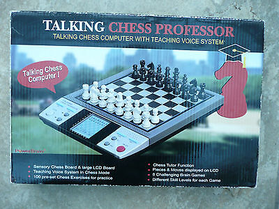 Excellent Talking Chess Professor Electronic Game In V Good Used Working Order