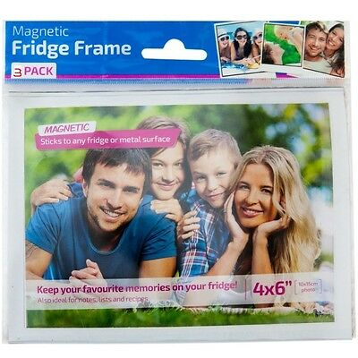 "3 x 6x4"" Magnetic Photo Pouches Personalised Gift Paper Pouch Picture Frame"