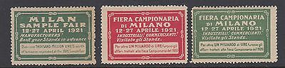 Milan Sample Fair - 1921 - Cinderellas