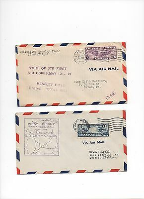USA.1928/31.2 x Air Mail First Flight Covers.