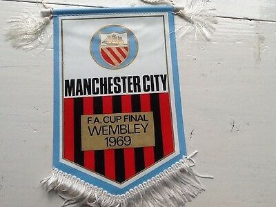 Manchester City FC 1969 F.A. Cup Final Pennant