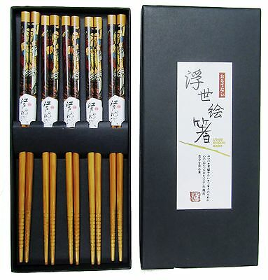 (920007) Box of 5 Pairs of Chinese Japanese Chopsticks Takeaway Dinner Party