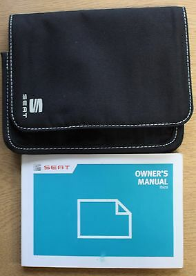 Seat Ibiza And St Handbook Owners Manual Wallet 2012-2015 Pack 13951