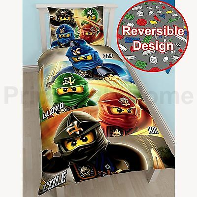 Lego Ninjago Quadrant Single Duvet Cover Set Reversible Childrens Bedding