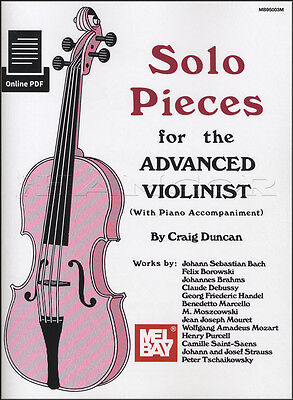 Solo Pieces for the Advanced Violinist Sheet Music Book Violin Classical Piano