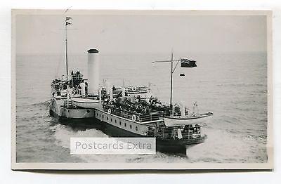"""Paddle steamer """"Brighton Belle"""" at sea - old postcard-sized photo"""