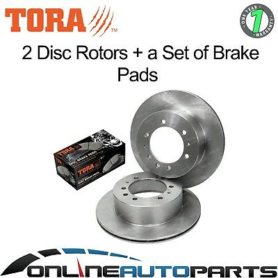 Rear Disc Rotor + Brake Pad Kit suits Nissan Patrol GQ Y60 1988~1999 4X4