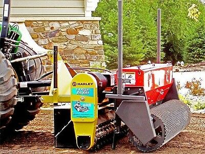 Harley Power Landscape Rake 5' Tractor,3 Pt Hitch Mount,Hyd Angle w/Power Seeder