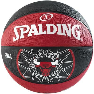 Spalding Basketball Team Chicago Bulls Outdoor Streetbasketball rot/schwarz Gr 7