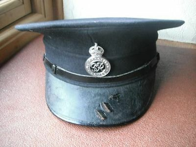Obsolete pre 1953 British Police Officers Service Cap with badge