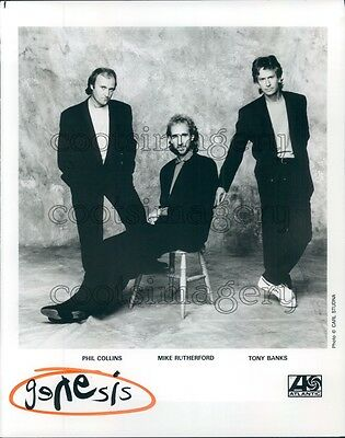 1992 Phil Collins Mike Rutherford Tony Banks Genesis Band Press Photo