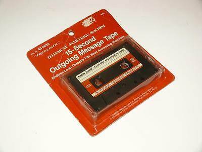 15-Second Outgoing Message Tape ~ Realistic/Radio Shack ~ Answering Machine ~NEW