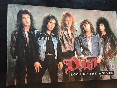 """Dio  """"lock Up The Wolves""""  1990  Huge 23 """"x 35"""" Promo Poster Mint Condition"""