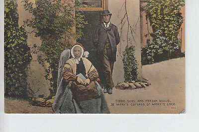 Tibbie Shiel & her son Wullie, St Mary's Cottage, St Mary's Loch, Selkirkshire