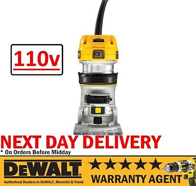"""DeWALT D26200 900W 110V 1/4"""" 55MM Variable Speed Fixed Base Palm Router RW"""