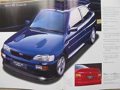 1995 Ford Escort includes RS Cosworth, hatchback, saloon, estate brochure