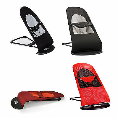 HOT Bouncer Balance Soft Baby Bouncing Chair Bouncer-Black/Red Cotton/Mesh