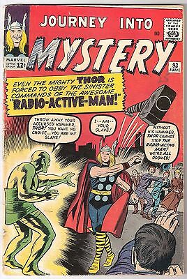 Journey Into Mystery #93, Marvel 1963, Vg-/vg Rk Collection, 1St Radioactive Man