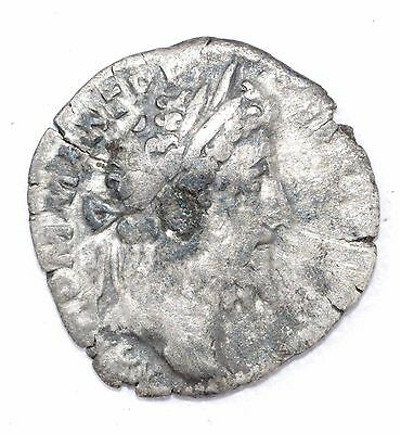 AUTHENTIC COMMODUS ROMAN COIN - AR Silver Denarius, Rv. Cos VI - A697