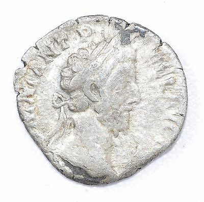 AUTHENTIC COMMODUS ROMAN COIN - AR Silver Denarius, Rv. Jupiter on throne - A700