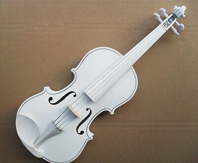 * Pure White Musical Instruments Basswood Beginner Violin 1/4 3/4 4/4 1/2 1/8
