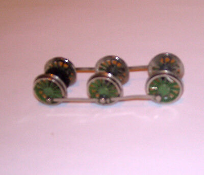 """""""full Set Of Green Drop In Driving Wheels"""" Hornby,airfix """"?"""