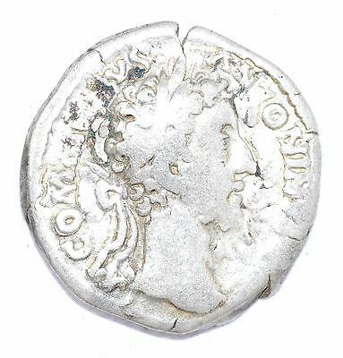 AUTHENTIC COMMODUS ROMAN COIN - AR Silver Denarius, Rv. Providentia - A701