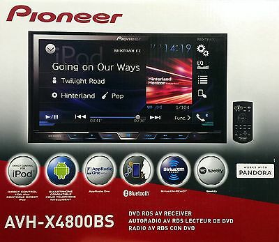 "NEW PIONEER AVH-X4800BS 2-DIN Bluetooth DVD/CD/AM/FM Receiver, 7"" Touchscreen"