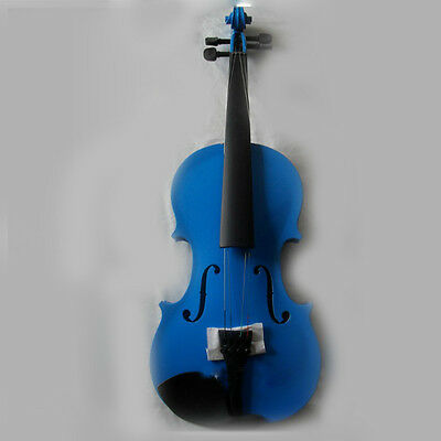* New Blue Musical Instruments Basswood  Beginner Violin 1/4 3/4 4/4 1/2 1/8