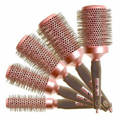Round Hair Brush Radial Pink Heat Retainer ALL SIZES STOCKED Hair Tools Head Jog