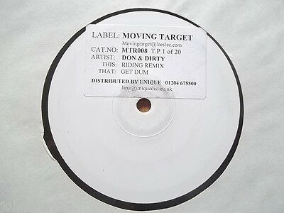 "Don And Dirty - Riding (Remix) / Get Dum 12"" Record - Moving Target - Mtr008"