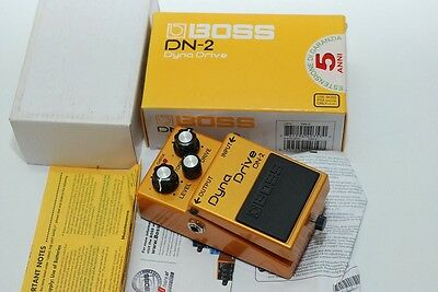 boss dyna drive dn-2 guitar pedal effect overdrive distortion mint w/original bo