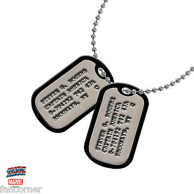 Captain America Répliques pendentif dog tag Steven Rogers version EE exclusive