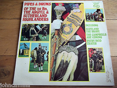 The 1St Bn. The Argyll & Sutherland Highlanders - Pipes & Drums - Lp - Mfp 50221