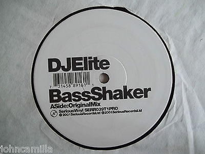 "Dj Elite - Bass Shaker 12"" Record / Vinyl - Serious Records - Serr039T1Pro"