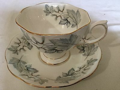 Royal Albert Bone China  Cup/saucer  England     Silver Maple Pattern