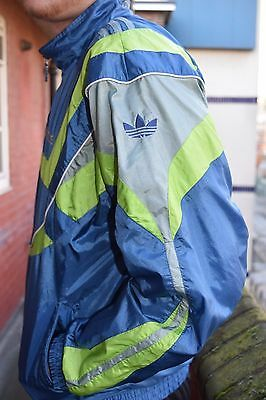 vintage 80s 90s  adidas teal shell track jacket hipster (D5 F174)