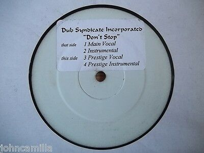 "Dub Syndicate Incorporated - Don't Stop 12"" Record - Chocolate Boy - Cbr 030"