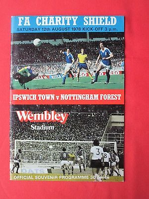 Ipswich v Nottingham Forest - Charity/Community shield football programme 1978