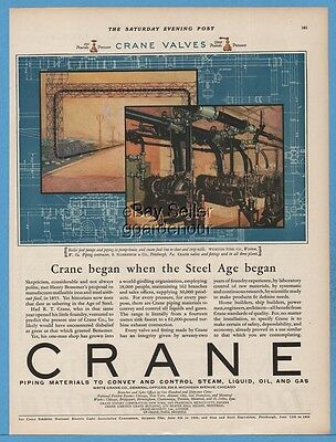 1927 Crane Co Piping Michigan Ave Chicago IL Weirton Steel WV Florsheim Shoe Ad