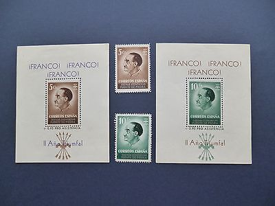 SPAIN :- Spanish Civil War : Franco Min.Sheet & stamp set.