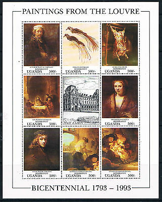 Uganda 1993 Paintings from the Louvre SG 1201/8 MNH