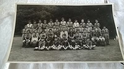 Large Real Photograph Of Boy Scouts Group