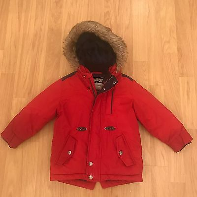 Boys Next Red Parka Coat Size 2-3 Years