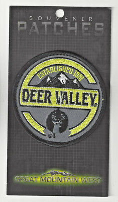 Deer Valley Utah Souvenir Patch - Skiing,  Snowboarding