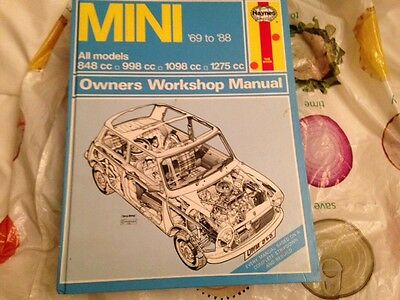 Classic Mini 69 to 88 All Models Haynes Owners Workshop Manual inc Cooper etc